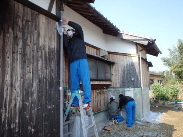 板壁塗装を中津市で